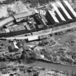 Aerial view taken of the site in 1952.