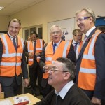Demonstrating our latest CAD CAM software to HRH Duke of Gloucester.